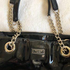 Kate Spade patent black bag